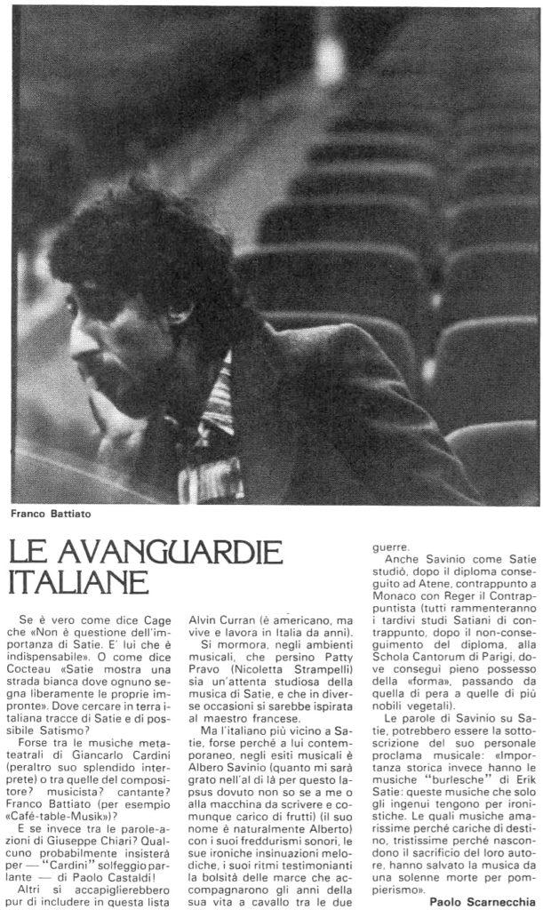Le avanguardie italiane