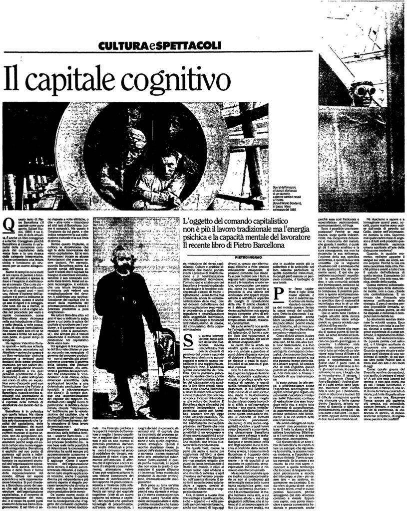 Il capitale cognitivo
