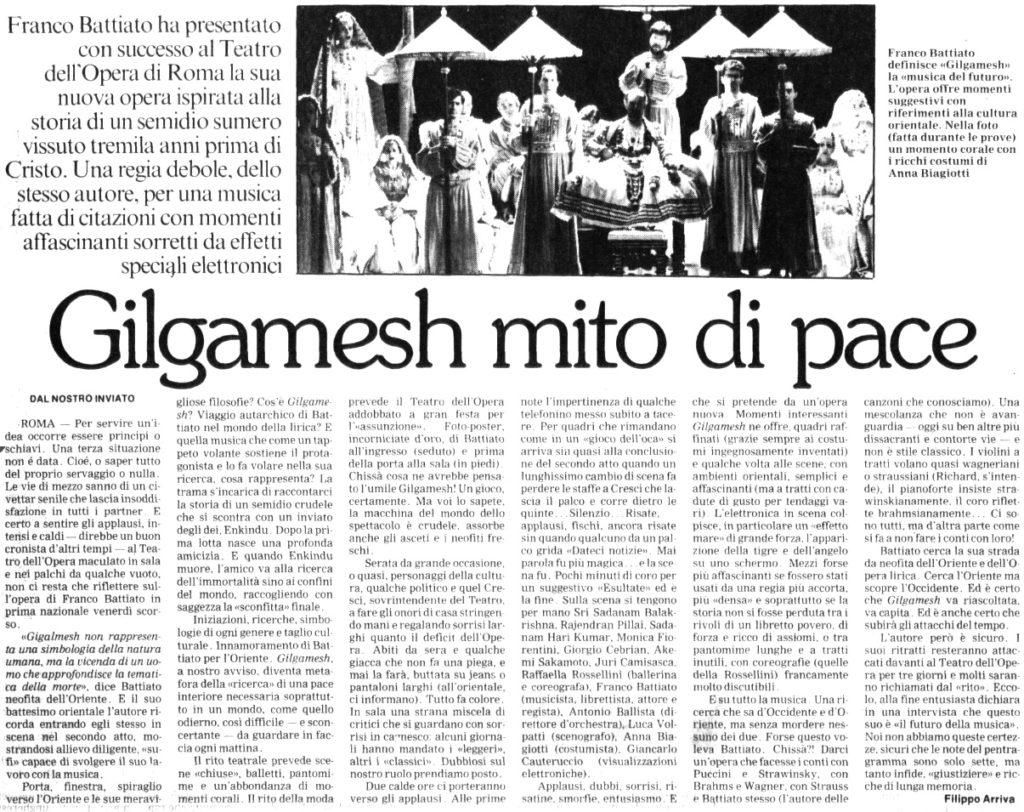 Gilgamesh mito di pace