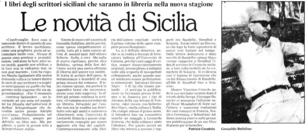 Le novità di Sicilia