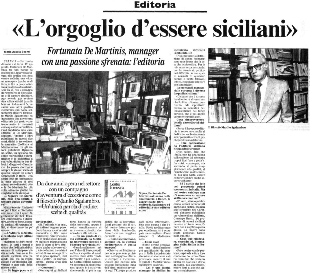 «L'orgoglio d'essere siciliani»