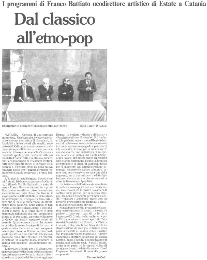 Dal classico all'etno-pop