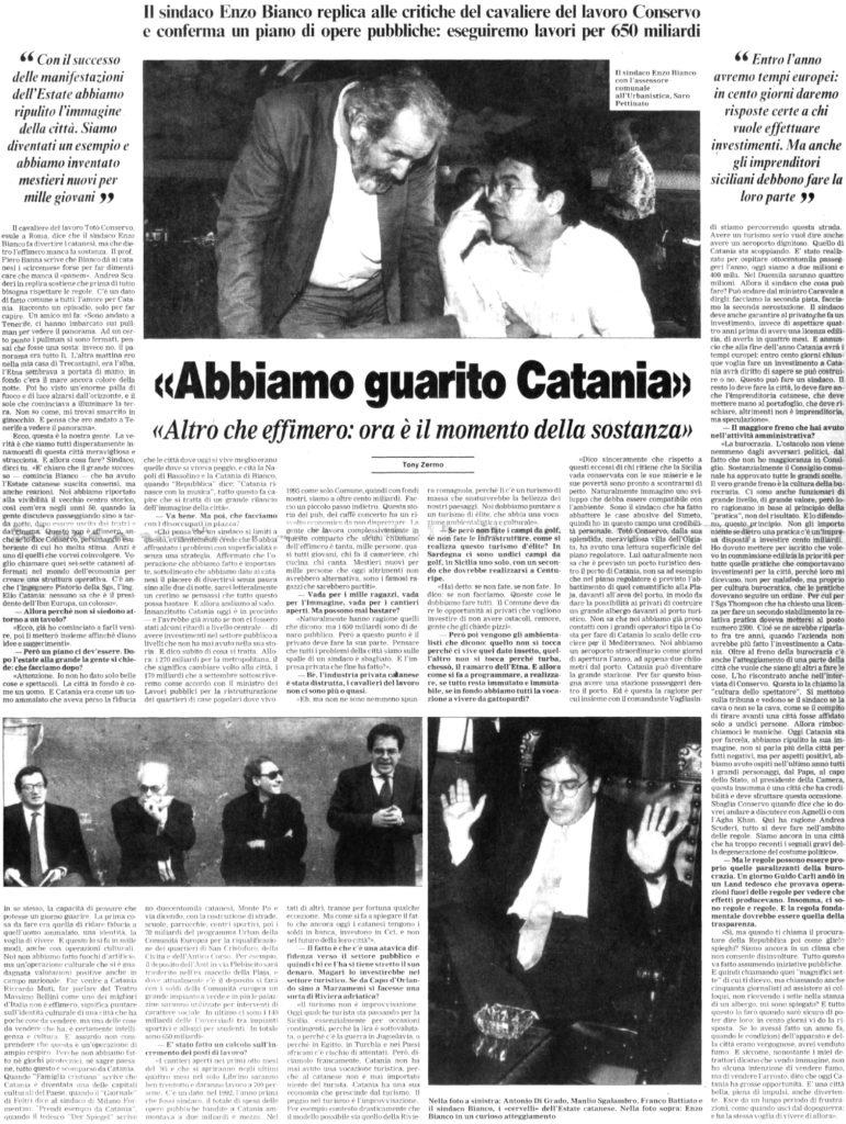 «Abbiamo guarito Catania»