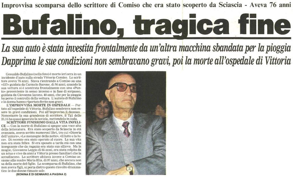 Bufalino, tragica fine