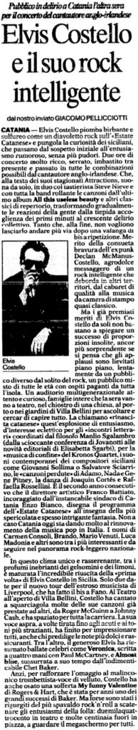 Elvis Costello e il suo rock intelligente