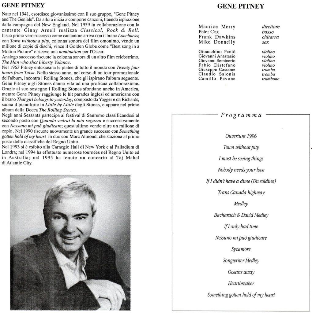 Gene Pitney in concerto 1