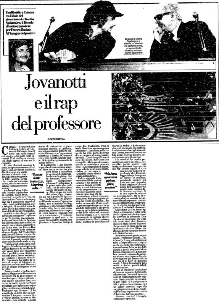 Jovanotti e il rap del professore