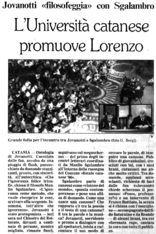 L'Università catanese promuove Lorenzo