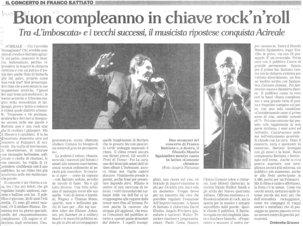 Buon compleanno in chaive rock'n'roll