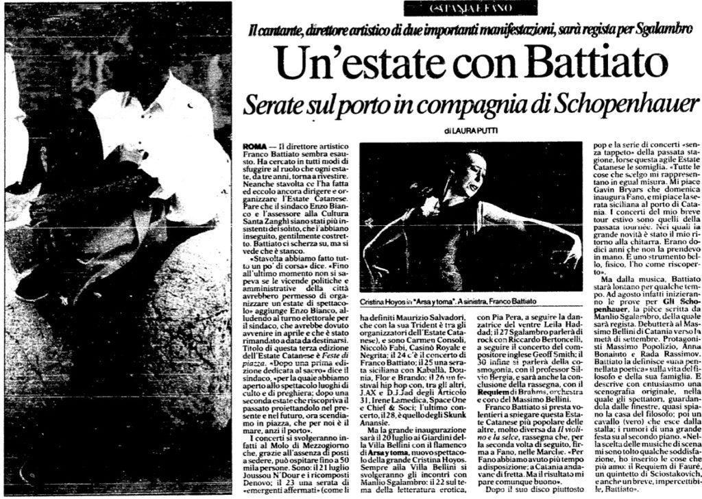 Un'estate con Battiato