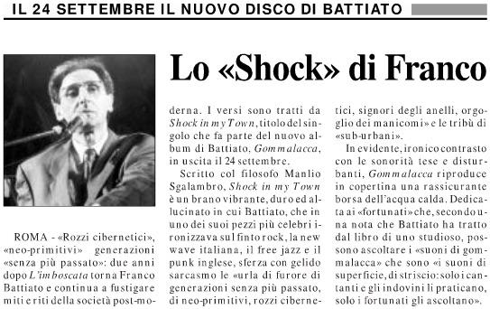Lo «Shock» di Franco