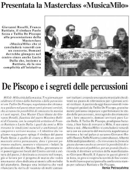 De Piscopo e i segreti delle percussioni