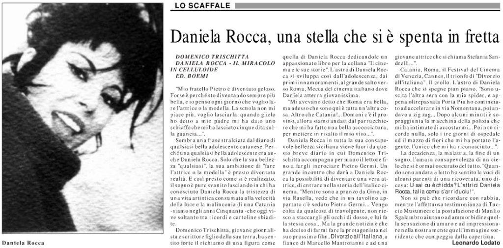 Daniela Rocca, una stella che si e spenta in fretta