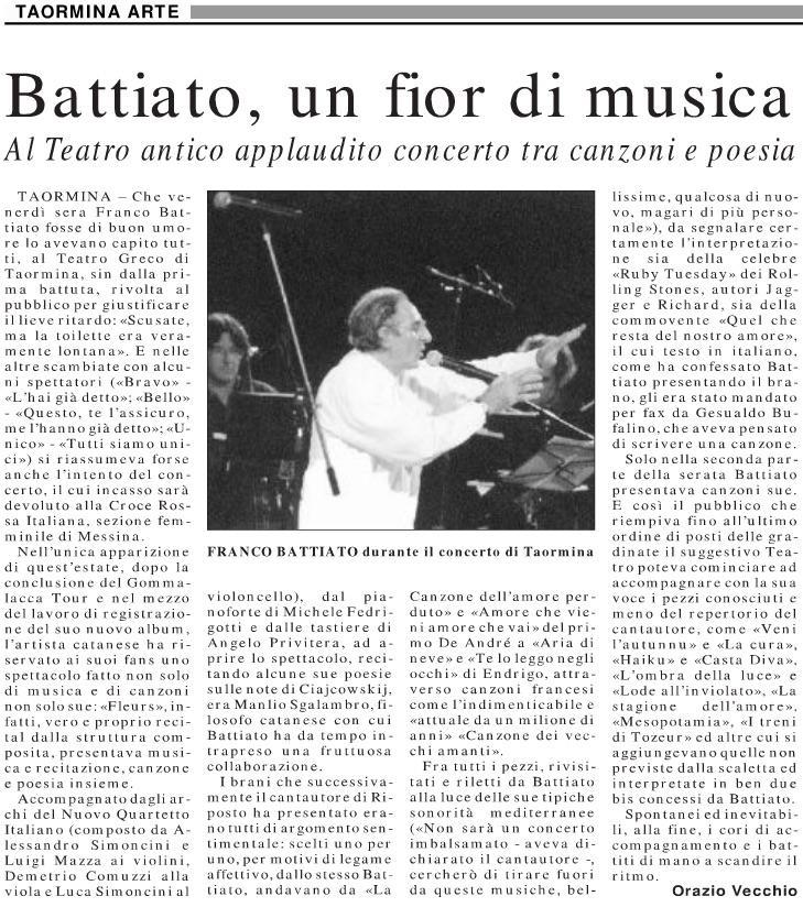 Battiato, un fior di musica