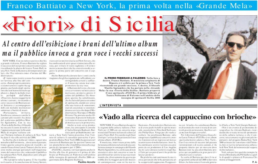 «Fiori» di Sicilia