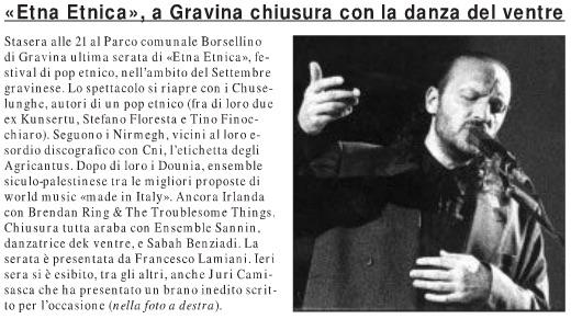 «Etna Etnica», a Gravina chiusura con la danza del ventre