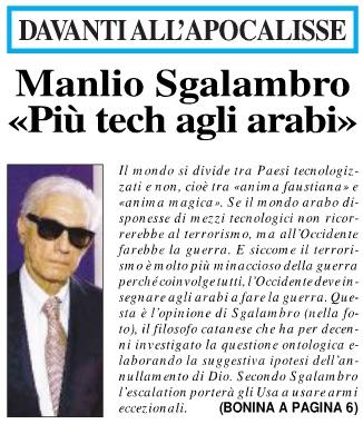 Manlio Sgalambro «Più tech agli arabi»