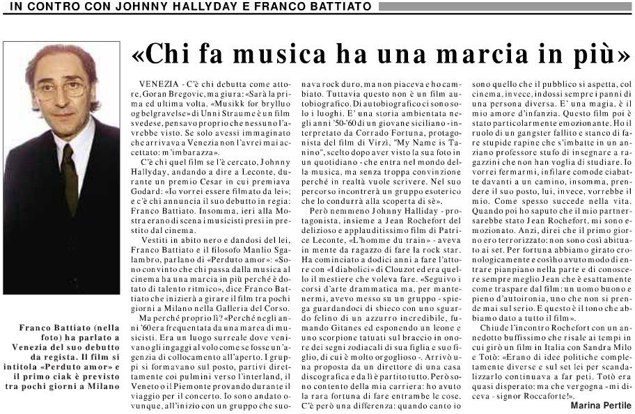 «Chi fa musica ha una marcia in più»