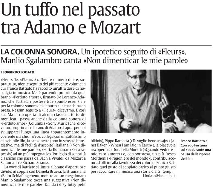 Un tuffo nel passato tra Adamo e Mozart