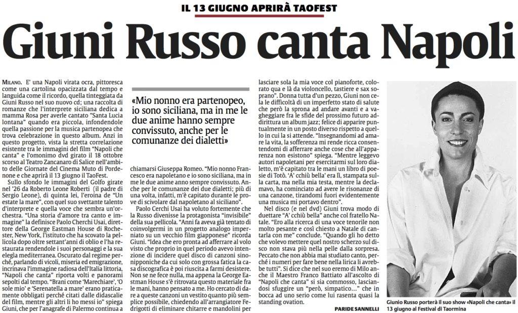 Giuni Russo canta Napoli