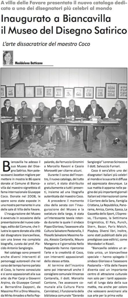 Inaugurato a Biancavilla il Museo del Disegno Satirico