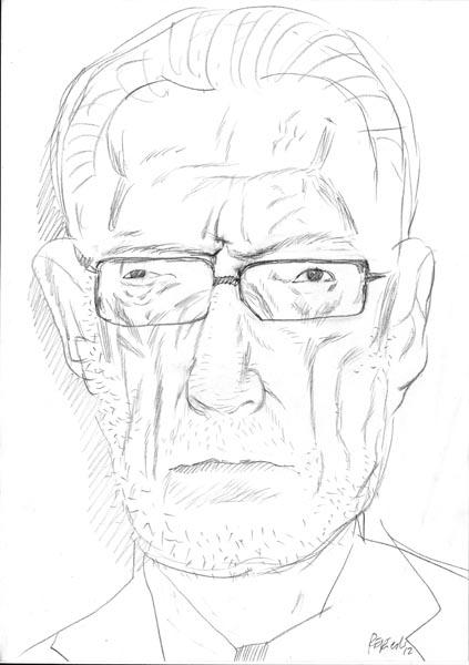 Manlio Sgalambro (matita su carta)
