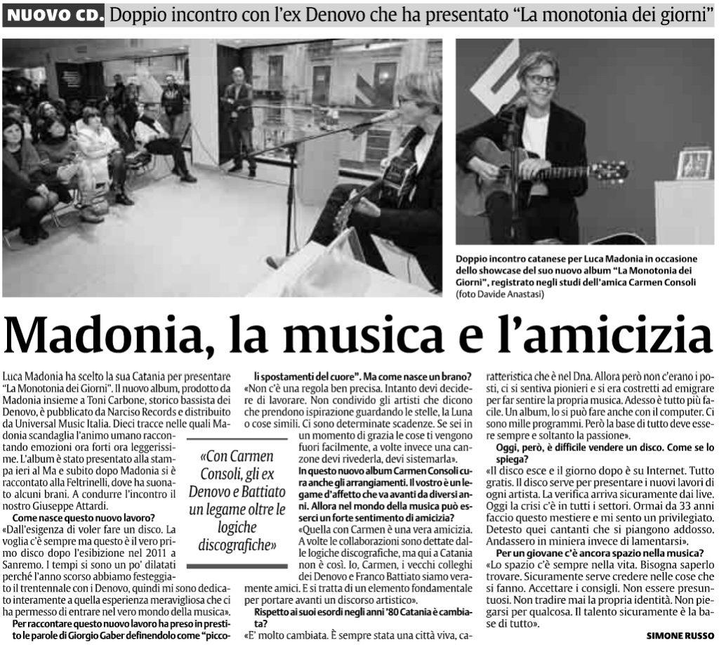 Madonia, la musica e l'amicizia