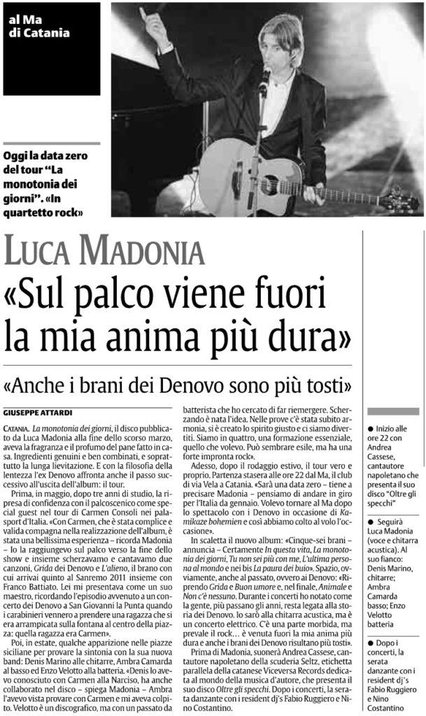 Luca Madonia «Sul palco viene fuori la mia anima più dura»