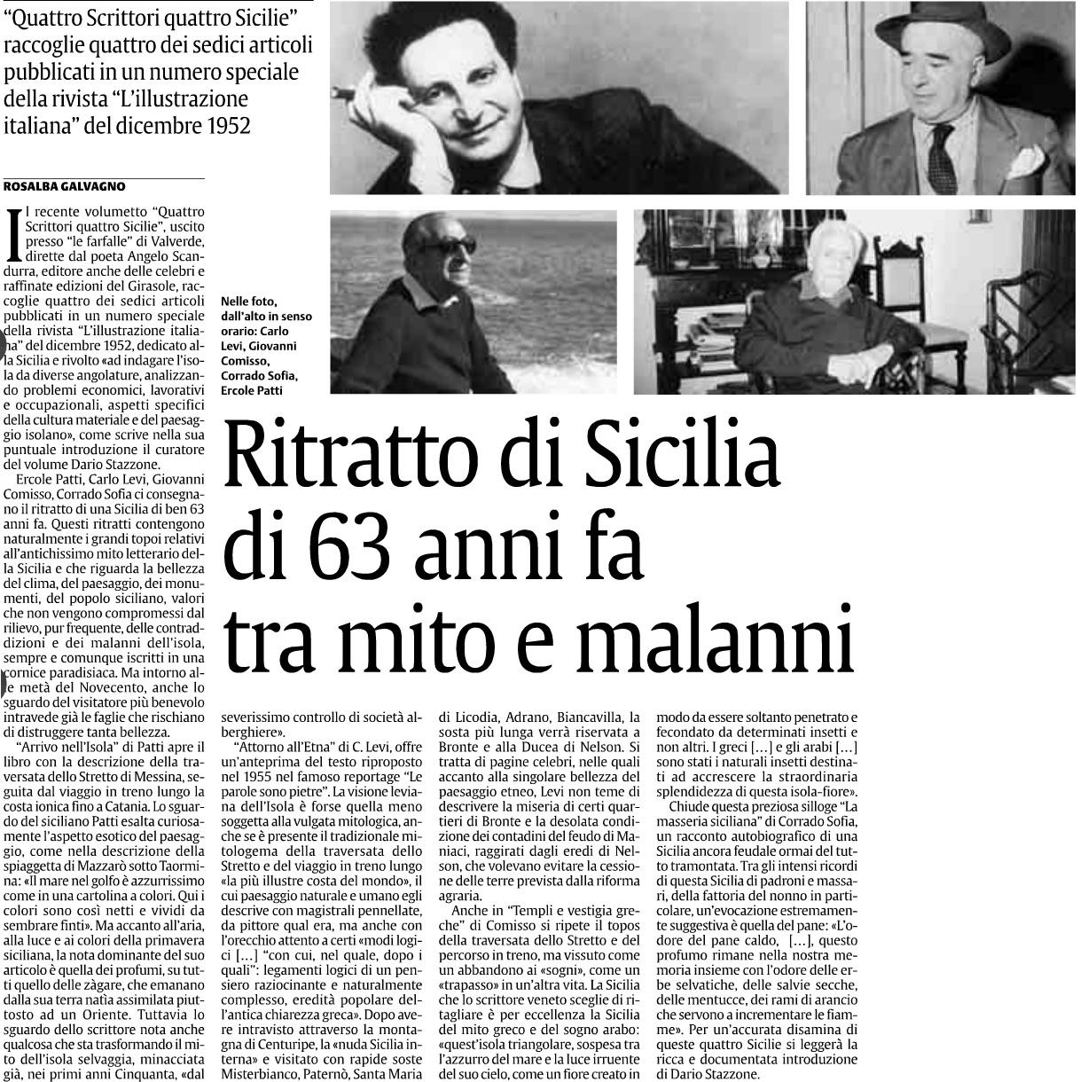 Ritratto di Sicilia di 63 anni fa tra mito e malanni