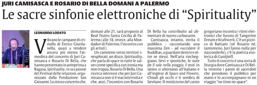 """Le sacre sinfonie elettroniche di """"Spirituality"""""""