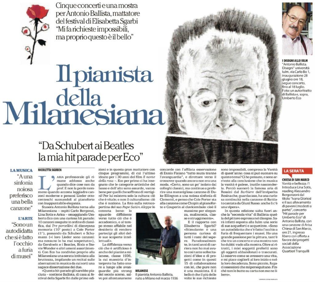 Il pianista della Milanesiana